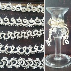 Tatted lace trims to make decorations for my wedding(in two days!)with :) by by_moe Needle Tatting, Lace Trim, Wedding Decorations, Handmade Crafts, Day, Instagram Posts, How To Make, Wedding Decor, Lace Detail