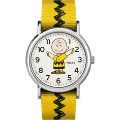 Charlie Brown Watch | Timex x Peanuts Watch Collection ❤ liked on Polyvore featuring jewelry, watches, timex watches, timex wrist watch and timex