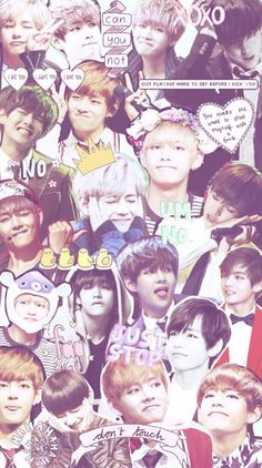 [© owner] cute collage of v from bts