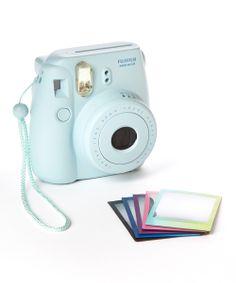 Blue Instax Mini 8 Camera & Film Set $59.99- Christmas list!!!