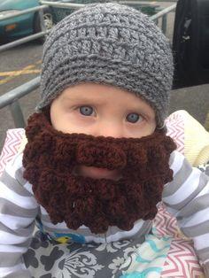 Lumberjack Baby Beard Beanie in ANY COLOR COMBO 139435e96beb