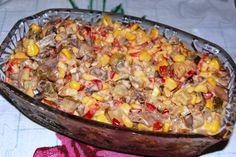 """Фантастически вкусный и простой салат! """"Салатик с грибами и кукурузой"""" Побробуйте и убедитесь! Смотрите рецепт на сайте... http://knigarulit.ru/salat-s-gribami-i-kukuruzoy/"""