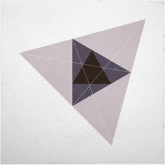 #221 Triangular space – A new minimal geometric composition each day // Geometry Daily