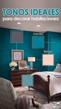 Que evocan relajación y tranquilidad #Colores #paredes #Habitación #Rooms #Ideas #Decoración