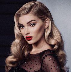 Elsa Hosk blonde hair
