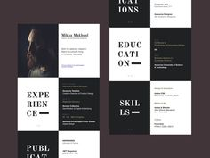 """This is the second resume I've seen with a block style, I personally think it looks great. Resume by Michel Makhoul ... For more great resume ideas search Aaron Sheppard and look at my """"? - Design - Resumes"""" board. Creative Resume Design, Resume Style, Resume Design, Curriculum Vitae, CV, Resume Template, Resumes, Resume Format."""
