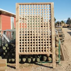 1000 images about lattice ideas for my honeysuckle for Install lattice privacy screen