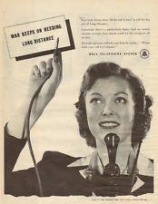 1945 WW2 era AD Bell Telephone Sytem  Pretty Operator  010416