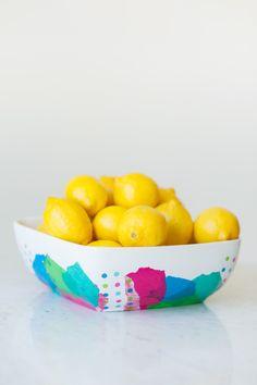 DIY Abstract Fruit Bowl by @cydconverse