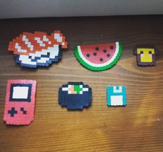 On instagram by snoopina813 #8bits #microhobbit (o) http://ift.tt/21lDO0c hama attempts.  #hamabeads #perlerbeads #pyssla #craft #beads #diy #creative  #8bitart #vintagevideogames #retro #vintage #sushi