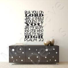 Shield Around Me Psalm 3:3 Christian Vinyl Wall by MaddCaveDecals