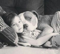 Pit Bull....isn't that beautiful! Look at that sweet girl and her dog :)