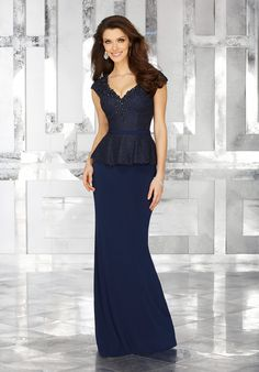 23c24b1aed1 Beaded Lace with Jersey. Matching Removable Belt. Colors Available  Navy