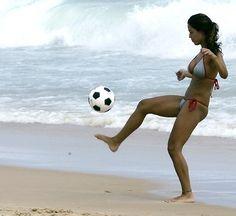 soccer on the beach <3