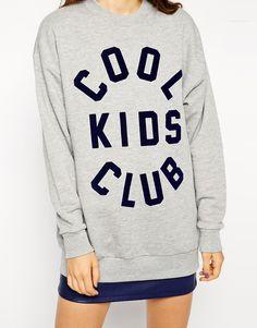 ASOS Sweatshirt with Cool Kids Club Print