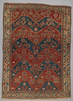 Carpet  Date:     first half 19th century Geography:     Turkey Culture:     Islamic Medium:     Wool (warp, weft and pile); symmetrically knotted pile