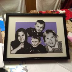 Kids done for Hilary & Johns 70th birthday