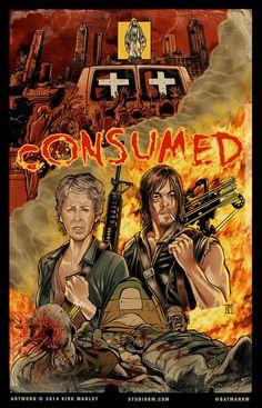 Consumed- The Walking Dead Fan Art Walking Dead Fan Art, Walking Dead Comics, Walking Dead Tv Series, Walking Dead Memes, Fear The Walking Dead, Evil Dead, Daryl And Carol, Dead Zombie, Stuff And Thangs