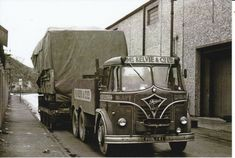 B/W PHOTO: McKELVIE & CO FODEN HEAVY HAULAGE UNIT - PHS 141 #NA Old Lorries, Road Transport, Odd Stuff, Commercial Vehicle, Classic Trucks, Old Trucks, Buses, Britain, Transportation