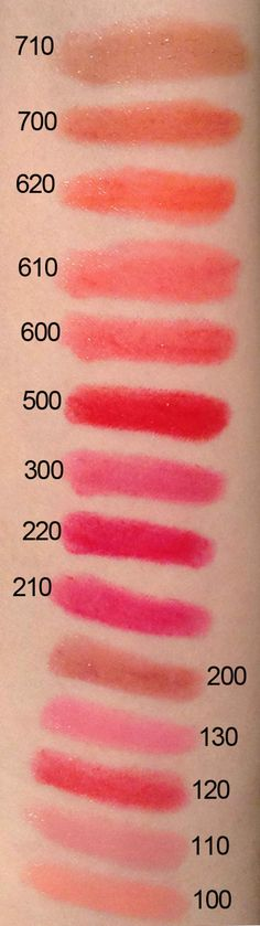 Rimmel Colour Rush Balms swatches.