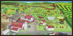 Image result for farm attraction map Tourist Map, Corn Maze, Athens, Acre, Stuff To Do, Pumpkin, Nursery, Blackberries, Super Excited