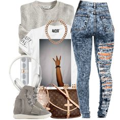 A fashion look from February 2015 featuring Louis Vuitton handbags, MARC BY MARC JACOBS watches and Topshop necklaces. Browse and shop related looks.