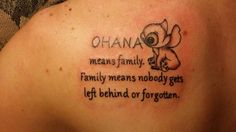 Lilo and stitch tattoo for my family. #ohana #firsttattoo
