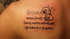 Lilo and stitch tattoo for my family. #ohana #firsttattoo