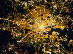 Baltimore at Night : Image of the Day : NASA Earth Observatory Remote Sensing, New Media Art, Light And Space, Image Of The Day, Night City, Birds Eye View, Our Planet, City Lights, Fractal Art