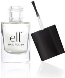 This is one of my favorites on e.l.f.: Matte Finisher Clear Nail Polish.