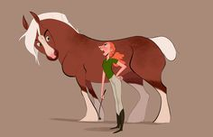 Pinup Arena • alexis-page: Snotty horse girl and her horse.