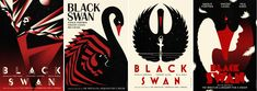 Striking poster designs from by LaBoca (www.laboca.co.uk) for 'Black Swan' film, directed by Darren Aronofsky.