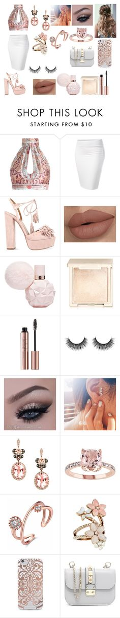 """""""Pink"""" by iloveyouflower ❤ liked on Polyvore featuring Zimmermann, Aquazzura, Jouer, Effy Jewelry, Accessorize, Nanette Lepore and Valentino"""