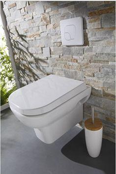 Déco WC design avec une cuvette wc suspendu