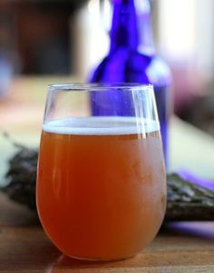 Homemade Lavender Kombucha | http://www.theroastedroot.net