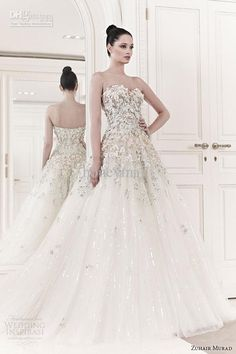 Wedding dress from Zuhair Murad. I'm in love with this designer.