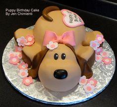 Dog Cake Decoration cakepins.com