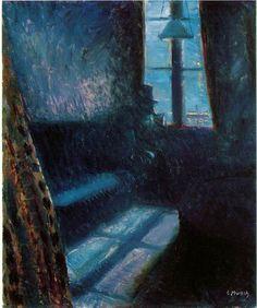 Edvard Munch, Night in Saint Cloud on ArtStack #edvard-munch #art