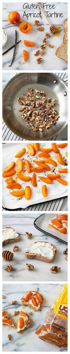 Gluten Free Apricot Tartine on Udi's Gluten Free Bread