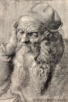 Durer. Does anybody know if he is depicting Da Vinci because they were alive at the same time but I don't know if they met