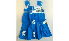 Detské šaty bielo modré 2-3 roky