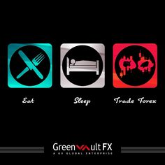 A day in the life of a #forex #trader: Eat! Sleep! Trade Forex!
