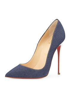 Christian Louboutin So Kate Denim Red Sole Pump