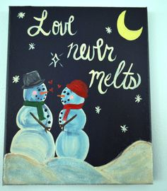 Painting Love Couple Fun Ideas For 2019 Christmas Paintings On Canvas, Christmas Canvas, Christmas Art, Holiday Canvas, Family Christmas, Tole Painting, Acrylic Painting Canvas, Diy Painting, Painting Quotes