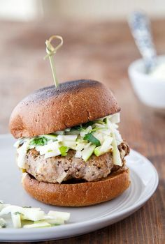 Rosemary Apple Chicken Burgers with Apple Slaw @Safeway