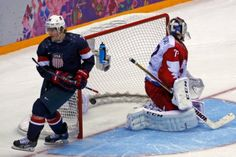 TJ Oshie scored four times in an eight-round shootout on Saturday to give victory to the United States 3-2 against Russia in an exciting game in the preliminary round of the men's hockey tournament at the Olympic Games in Sochi.
