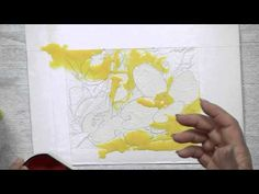 How to Pour Watercolors over Masking. This is a good demo on pouring; masking is already done....will need to draw first
