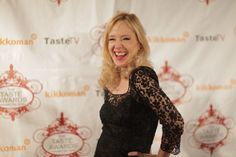 Holly Fulger, Creator and Host of Speaking of Beauty, at the Taste Awards. Speaking of Beauty was a nominee.