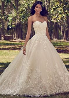 Courtesy of Maggie Sottero Wedding Dresses; Wedding dress idea.