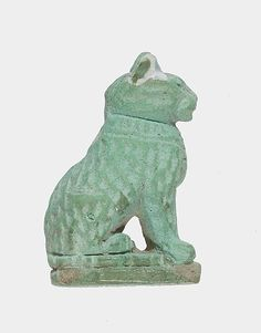 Cat amulet - Late Period, Dynasty 26–29, 664–380 B.C., Egypt - Faience - The Metropolitan Museum of Art, NY
